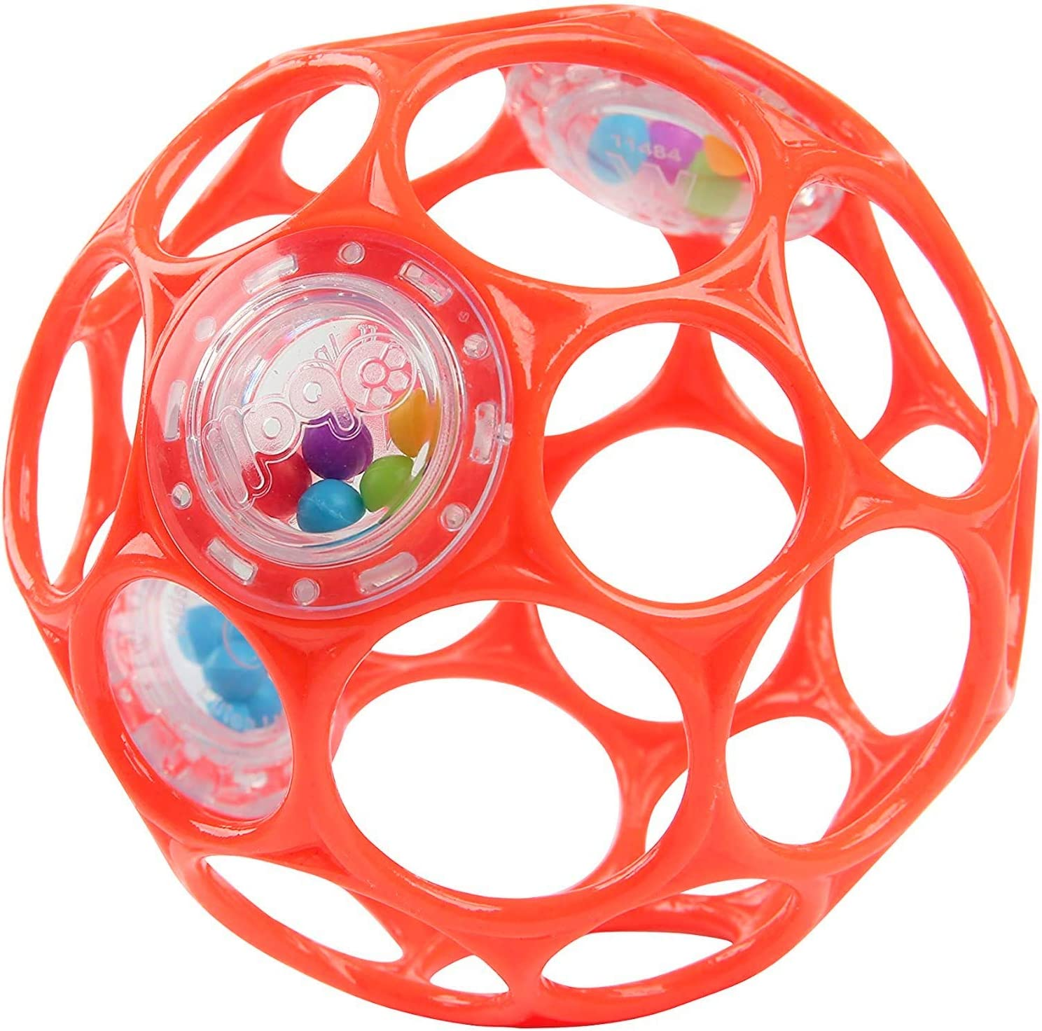 4 Inch Red Ages Newborn + Bright Starts Oball Rattle Easy Grasp Toy