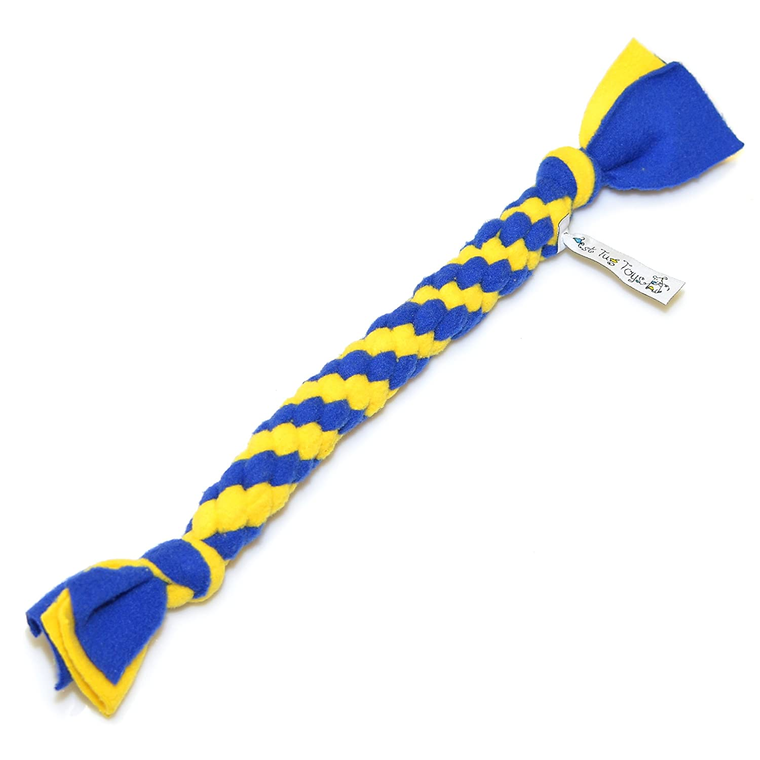 Fleece Handmade Rope Toy, Tug of War, Flexible, Durable, Easy Clean, (approximately 14 inch) Best Tug Toys for Small Dogs and Puppies