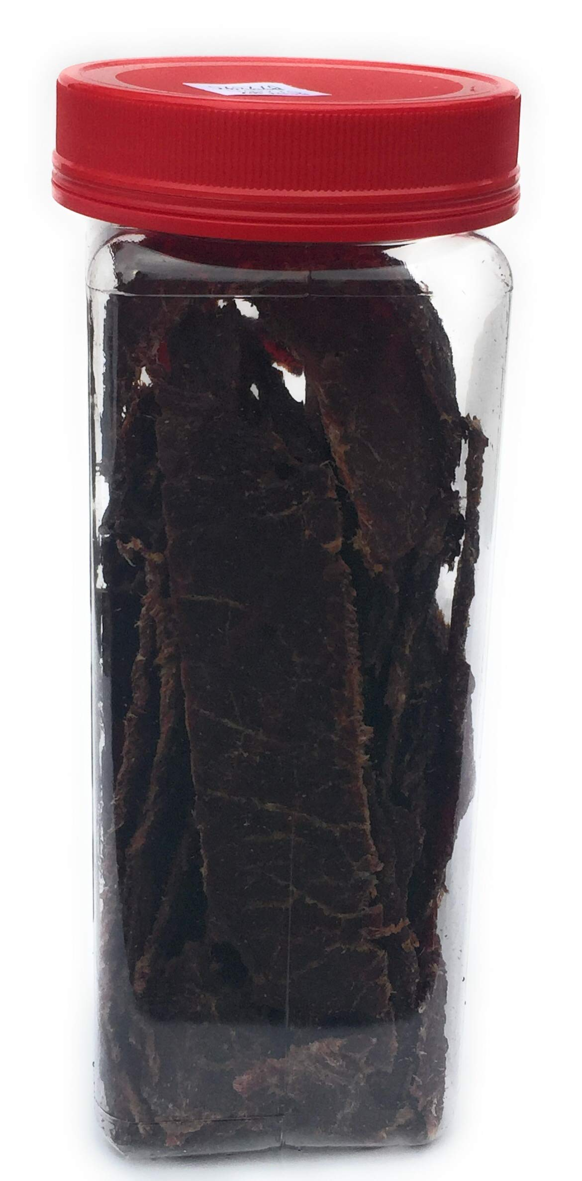 HARD TIMES 8oz Jar Original Real Beef Jerky Sliced Hand Trimmed Dry Tough Jerky For HardTimes by hard times (Image #5)