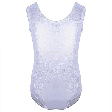 Freebily Filles Justaucorps de Gymnastique Danse Classique Tutu Enfants Fille  Leotard Combinaison Body de Gym Ballet 901b89244e4