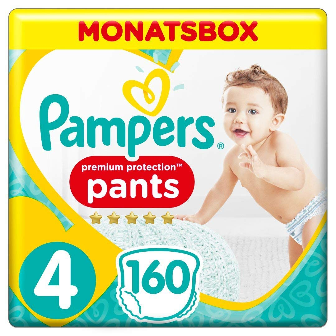 1 Monatsbox Pampers Premium Protection Pants Gr/ö/ße 4 160 Windeln