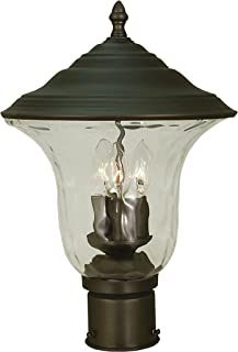 product image for Framburg 1227 Iron 3-Light Hartford Exterior Post Mount, Iron
