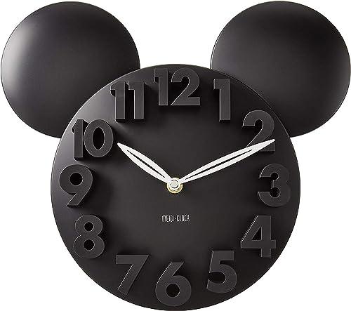 MEIDI CLOCK Modern Design Mickey Mouse Big Digit 3D Wall Clock Home Decor Decoration – Black