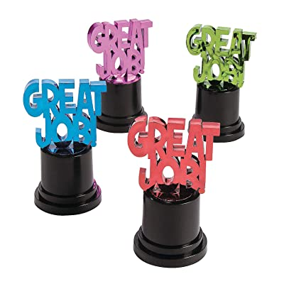 "Fun Express - ""Great Job Award Trophies - Stationery - Awards - Trophies & Awards - 12 Pieces: Toys & Games"