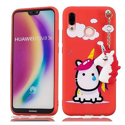 Huawei P20 Lite Carcasa, suave TPU funda para Huawei P20 ...