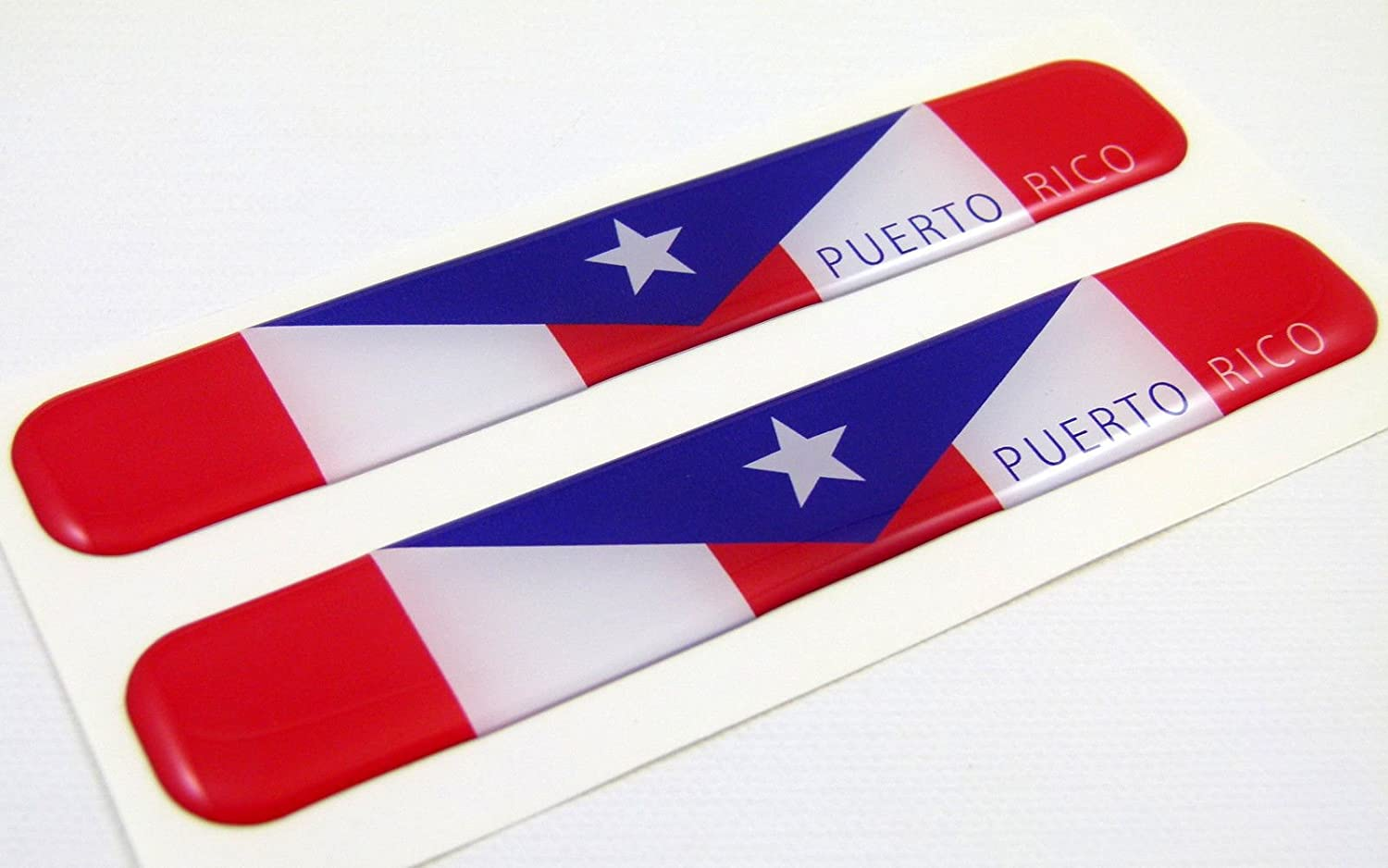 Puerto Rico Flag Domed Decal Emblem Resin car Stickers 5