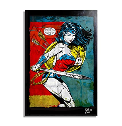 e6a9d33dc7ae Wonder Woman (Mujer Maravilla) DC Comics - Pintura Enmarcado ...