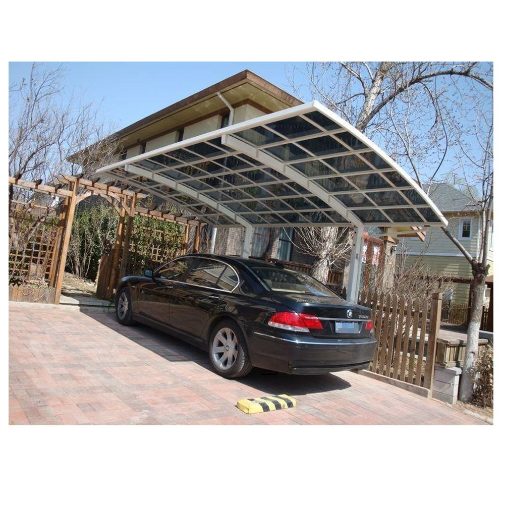 Nice and beautiful durable white aluminum alloy carport