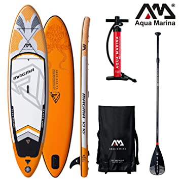 Aqua Marina Magma 2019 Sup - Tabla de Paddle Surf (Hinchable), Tabla + Remo Sport III + Leash: Amazon.es: Deportes y aire libre