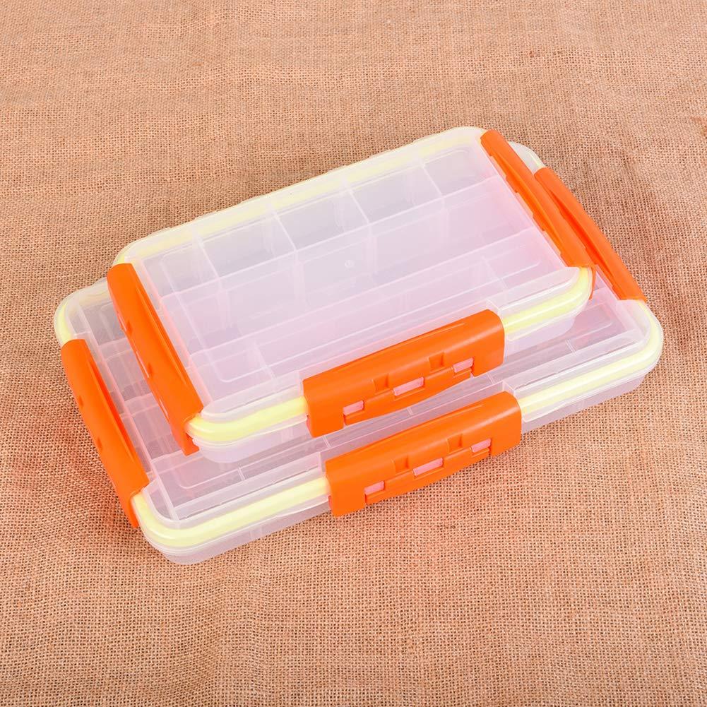 Yililay wasserdichte Lure Box Stowaway Fishing Tackle-Aufbewahrungsbeh/älter Geteilt Bait Container-Dienstprogramm Fall 27.5x1.7x5cm
