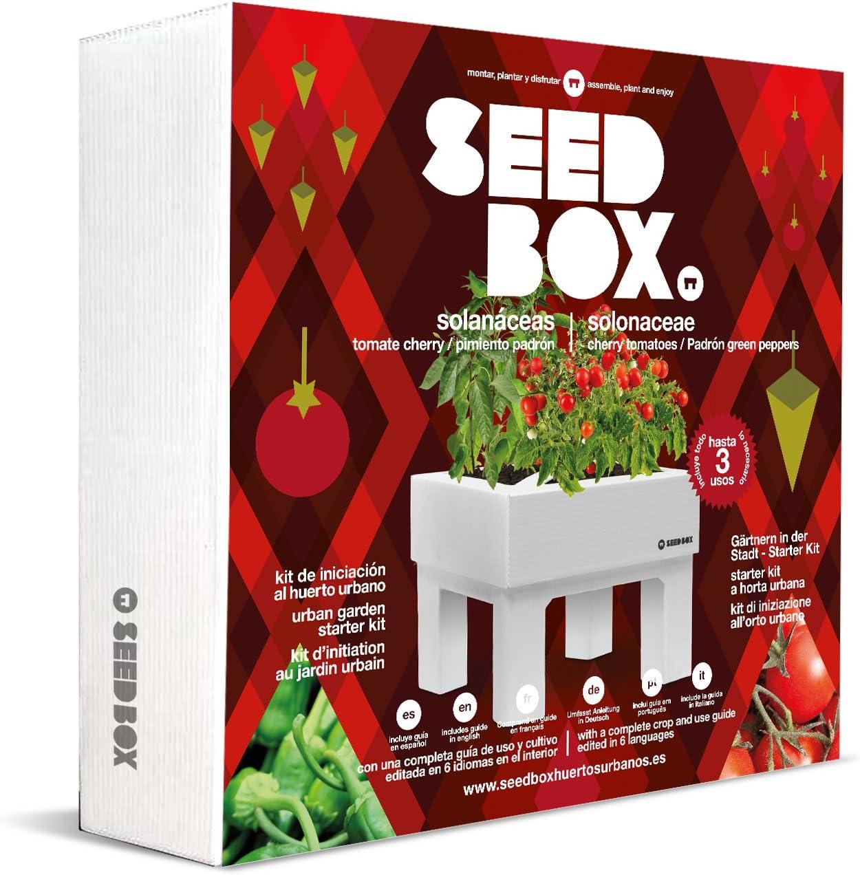 SeedBox SBCOSO - Huerto Urbano de Tomates Cherry y pimientos de ...