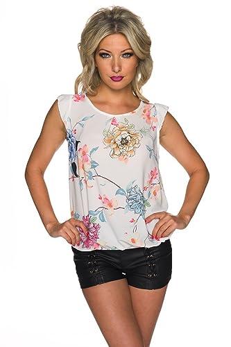 zarima - Camisas - Túnica - Floral - Sin mangas - para mujer