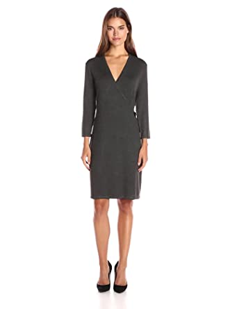 Amazon.com: Calvin Klein Women's Long-Sleeve Mock Wrap Sweater ...