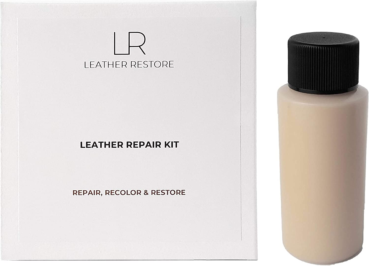Leather and Vinyl Repair Kit with Ready to Use Color, Beige - Repair, Recolor & Restore Couch, Furniture, Auto Interior & Car Seats