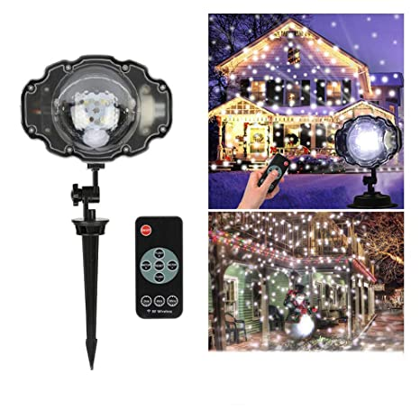 XGPT Nevada Luces LED, Navidad Copo De Nieve Proyectores Rotativos ...