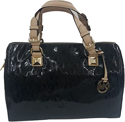 michael kors grayson women's handbag satchel black