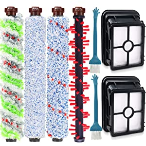 DEKIRU 1785A 2306A Accessories 1Pack 1868 Multi-Surface& 2306 Pet& 1926 Wood Floor& 1934 Area Rug Brush Rolls and 2 Pack 1866 Filters Fits for Bissell Crosswave 1785 2306 Series Vacuum Cleaner