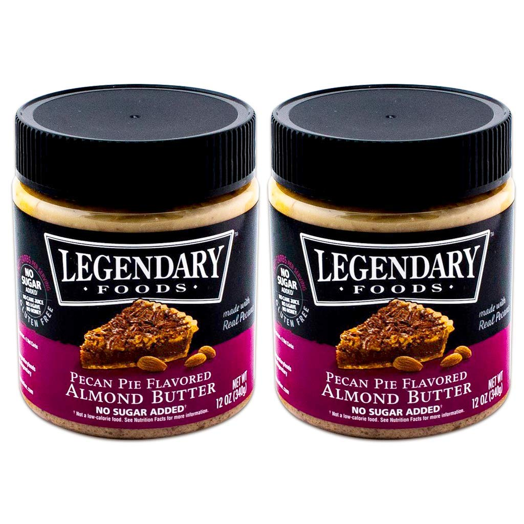 Legendary Foods Pecan Pie Keto Almond Butter, All Natural Ingredients, Rich In Protein. Healthy Spread - No Added Sugar or Artificial Flavors, Gluten Free (12oz, Pack of 2) by Legendary Foods