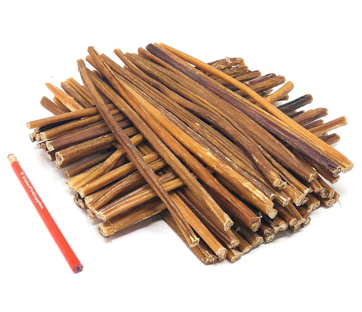 ValueBull All Natural 12 Inch Regular/Thin Bully Sticks for Dogs, 50 Count