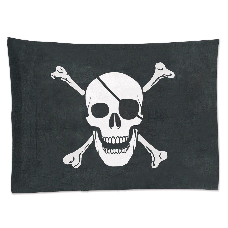 Beistle 50045 Pirate Flag Party Decoration 29 x 34 Black//White