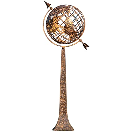 Amazon.com: Rome 1326 Earth Sphere/Sundial with Base, Steel ...