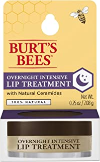 product image for Burt's Bees 100% Natural Overnight Intensive Lip Treatment, Ultra-Conditioning Lip Care - 0.25 ounce