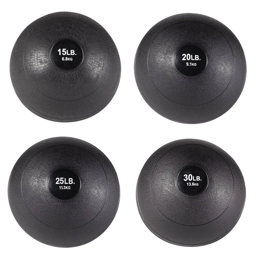 body-solid Slamボールセット – 15 , 20 , 25 , 30 lb。non-bounce Medicine Balls