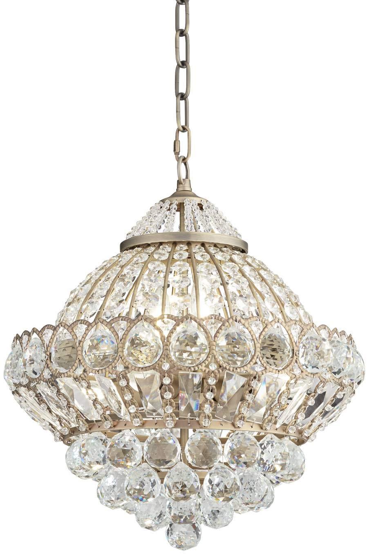 Wallingford 16 Wide Antique Brass Crystal Chandelier – Vienna Full Spectrum