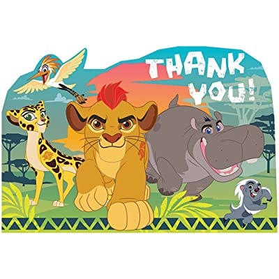 amscan Disney The Lion Guard Thank You Postcards, Party Favor One Size, Multicolor: Toys & Games