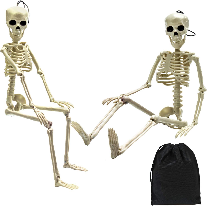 Elcoho 2 Pack Halloween Esqueleto Hueso Modelo 19.7 Pulgadas para Casas embrujadas Graveyard Escena Halloween Decoración: Amazon.es: Hogar
