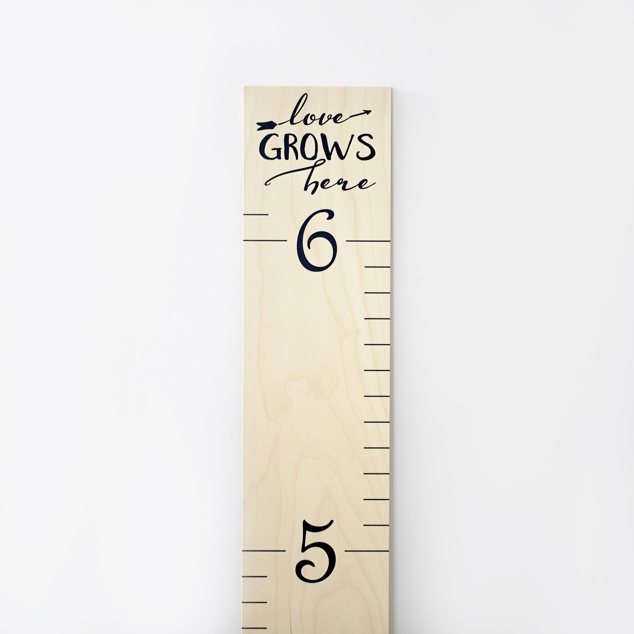 Growth Chart Art Wooden Wall Growth Chart Ruler For Kids Girls