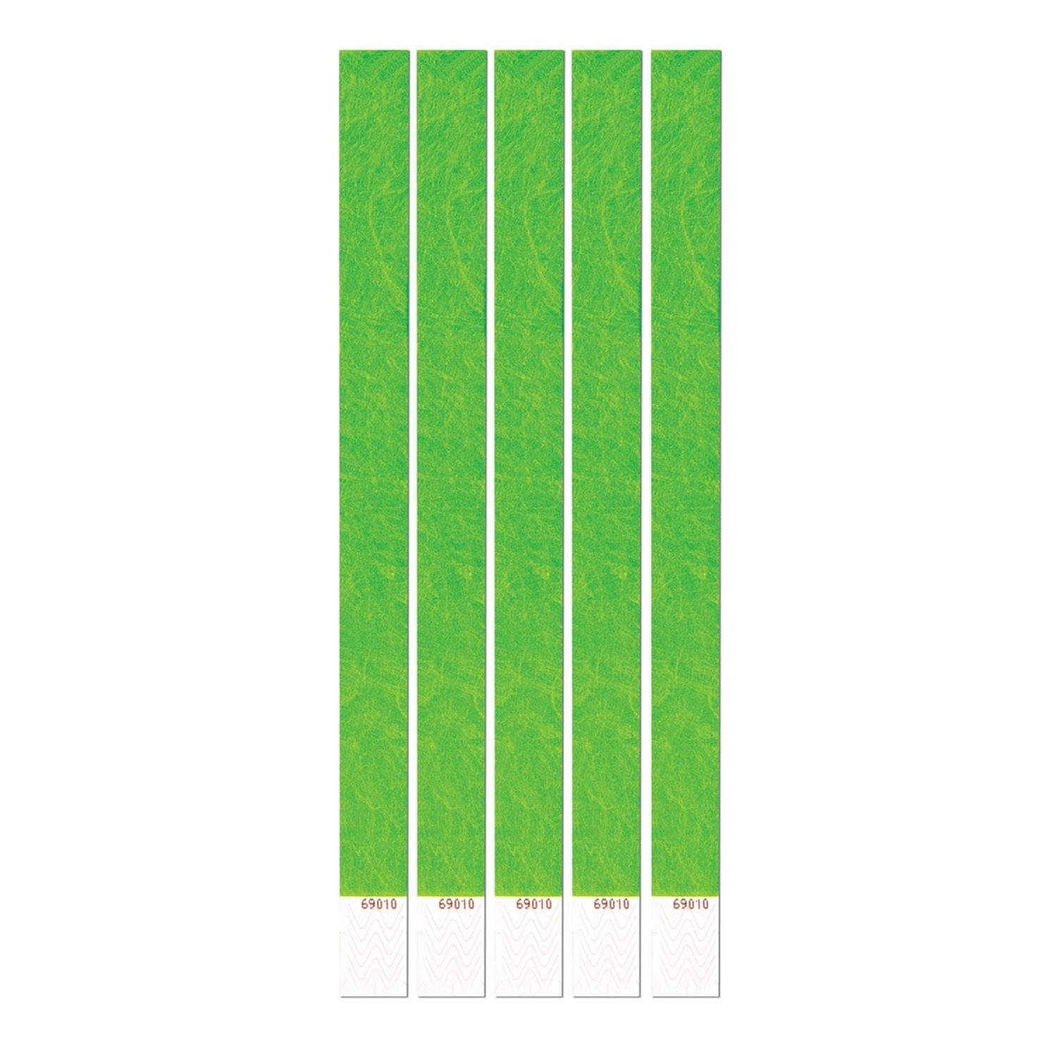 Club Pack of 600 Neon Green 10'' Tyvek Party Wristbands