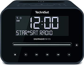 Technisat Digitradio 52 Cd Stereo Dab Radiowecker Mit Zwei Einstellbaren Weckzeiten Dab Ukw Snooze Sleeptimer Dimmbares Display Bluetooth Wireless Charging Funktion Cd Player Schwarz Heimkino Tv Video