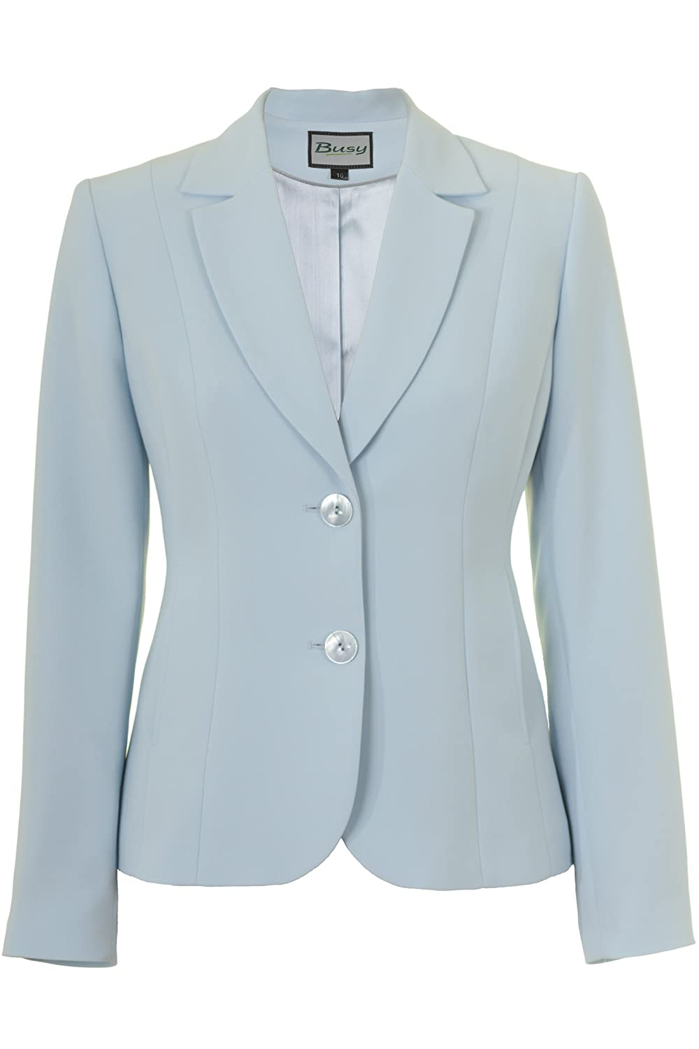 Busy Clothing Womens Light Blue Suit Jacket LightBlue44470