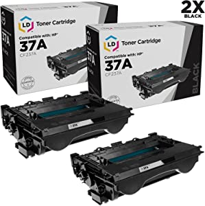 LD Compatible Toner Cartridge Replacement for HP 37A CF237A (Black, 2-Pack)