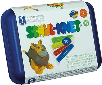Feuchtmann Juguetes 6280110 - plastilina Maxi Box Escuela Amasado, 10 Varillas en Caja de Almacenamiento: Amazon.es: Juguetes y juegos