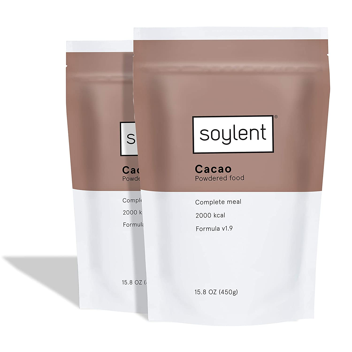 Soylent Cacao Meal Replacement Powder / Protein Powder, 2 Count Pouch, 15.8 Ounce (Pack of 2)