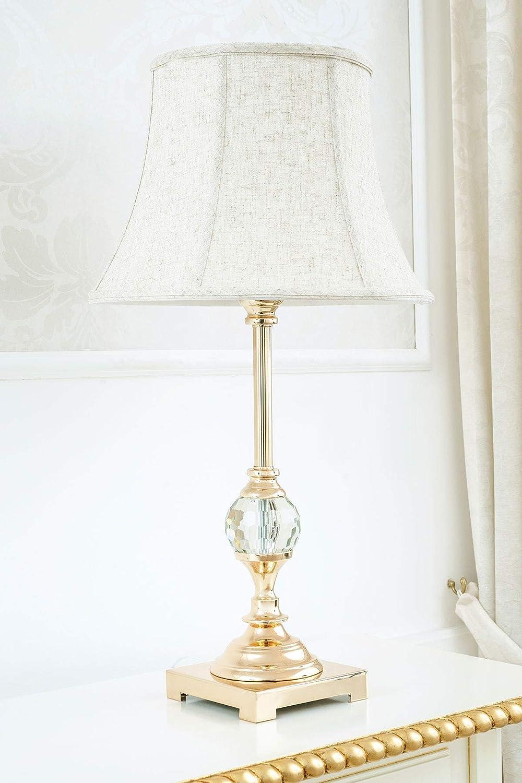 Lampada da tavolo Roxanne oro con sfera in cristallo