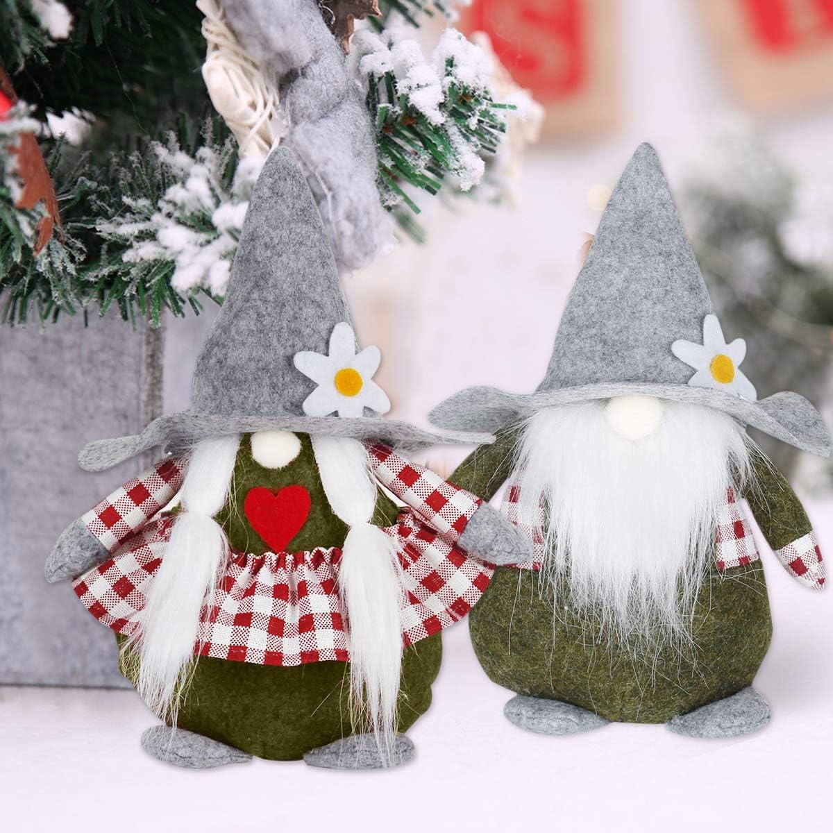FengRise Adornos navide/ños Mu/ñeca con Soporte de Tela Kit de decoraci/ón navide/ña para el 2 Piezas Decoraci/ón navide/ña de mu/ñeco Rudolph para ni/ños Regalos de decoraci/ón de Fiesta de Navidad