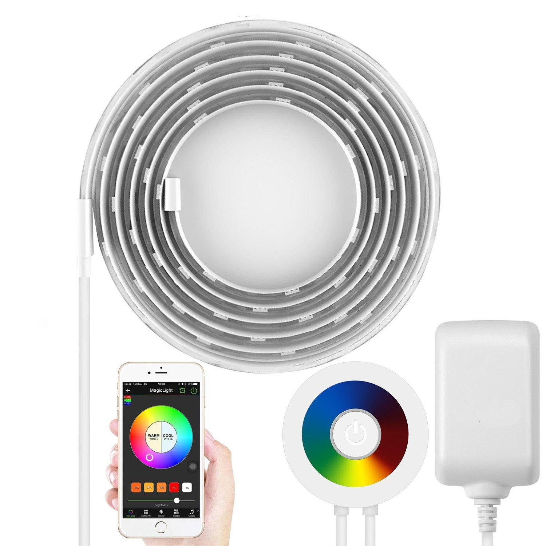 Streifen Licht mit dem Smart Telefon Gesteuert, TKSTAR Smart Wifi LED Streifen Licht RGB Farbe ändernden Streifen, die wasserdichte IP65 LED-Seil-Beleuchtung mit Amazonas und Google-Heim beleuchten