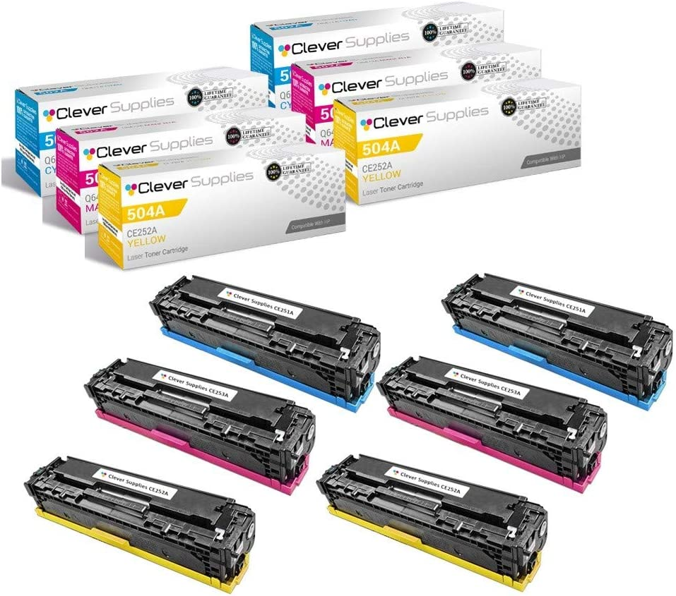 Smart Print Supplies Compatible 504A CE253A Magenta Toner Cartridge Replacement for HP Laserjet CP3525 CM3530 Printers 7,000 Pages