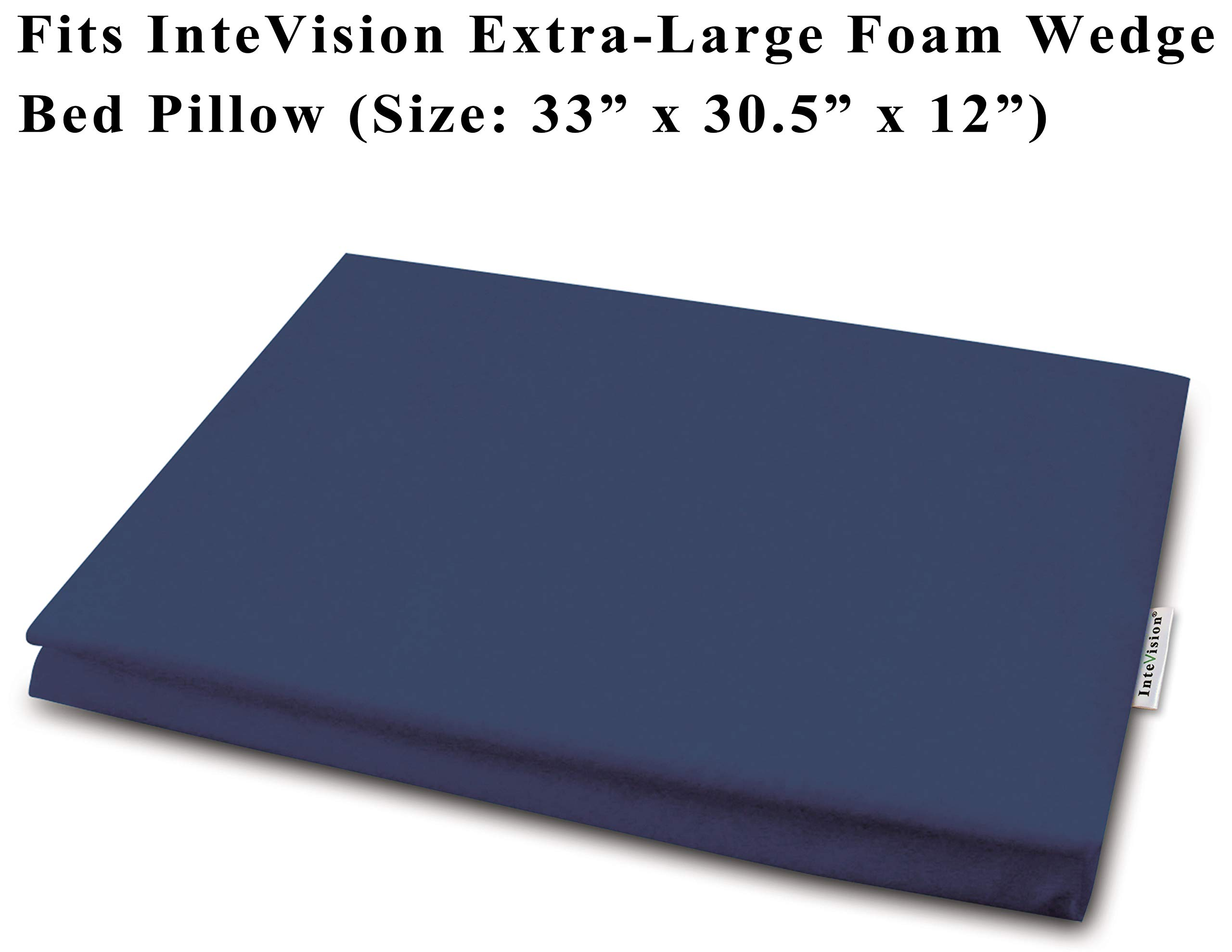 InteVision 400 Thread Count, 100% Egyptian Cotton Pillowcase. Designed to Fit The InteVision Extra-Large Foam Wedge Bed Pillow (33'' x 30.5'' x 12'')