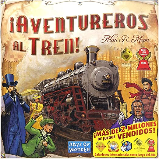 Outletdelocio. Juego de mesa Aventureros Al Tren. Version Original ...
