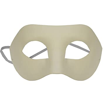 OMYGOD PLAIN WHITE EYE PAPER MACHE MASK TO DECORATE YOURSELF Amazon Enchanting Paper Mache Masks To Decorate