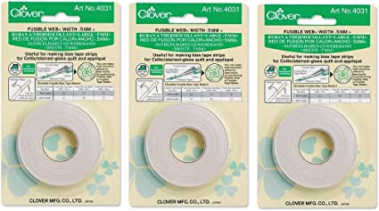 Clover 4031 Fusible Web 5mm SET OF THREE!