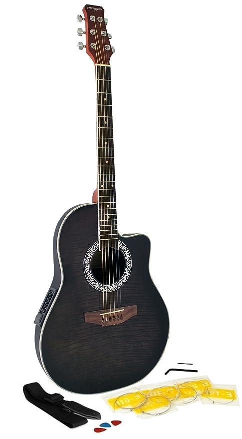 Martin Smith R202-BK - Guitarra electroacústica, color negro