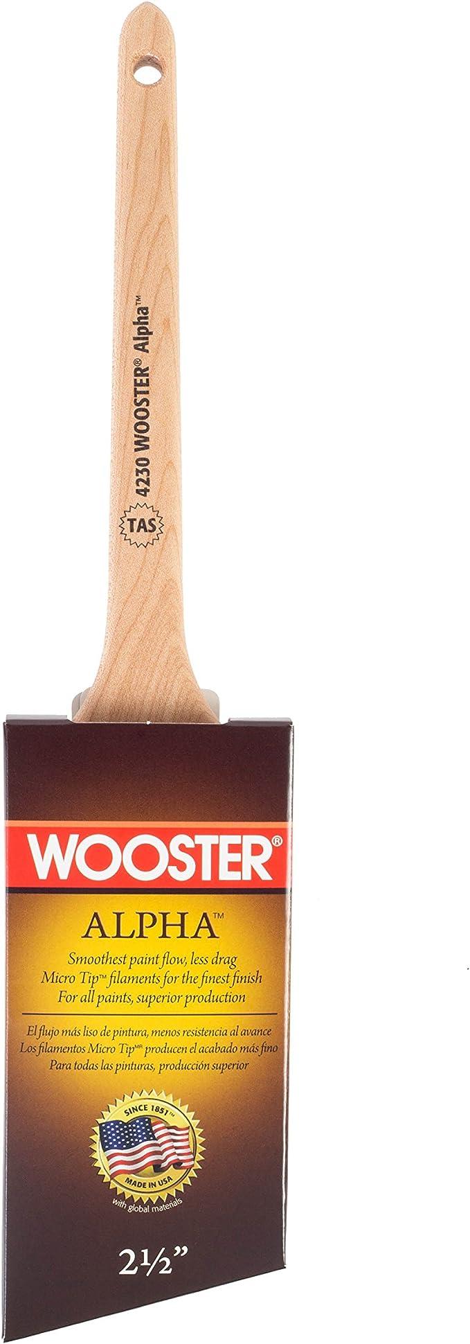 Alpha Thin Angle Sash Brush,No 4230-2 1//2 Wooster Brush