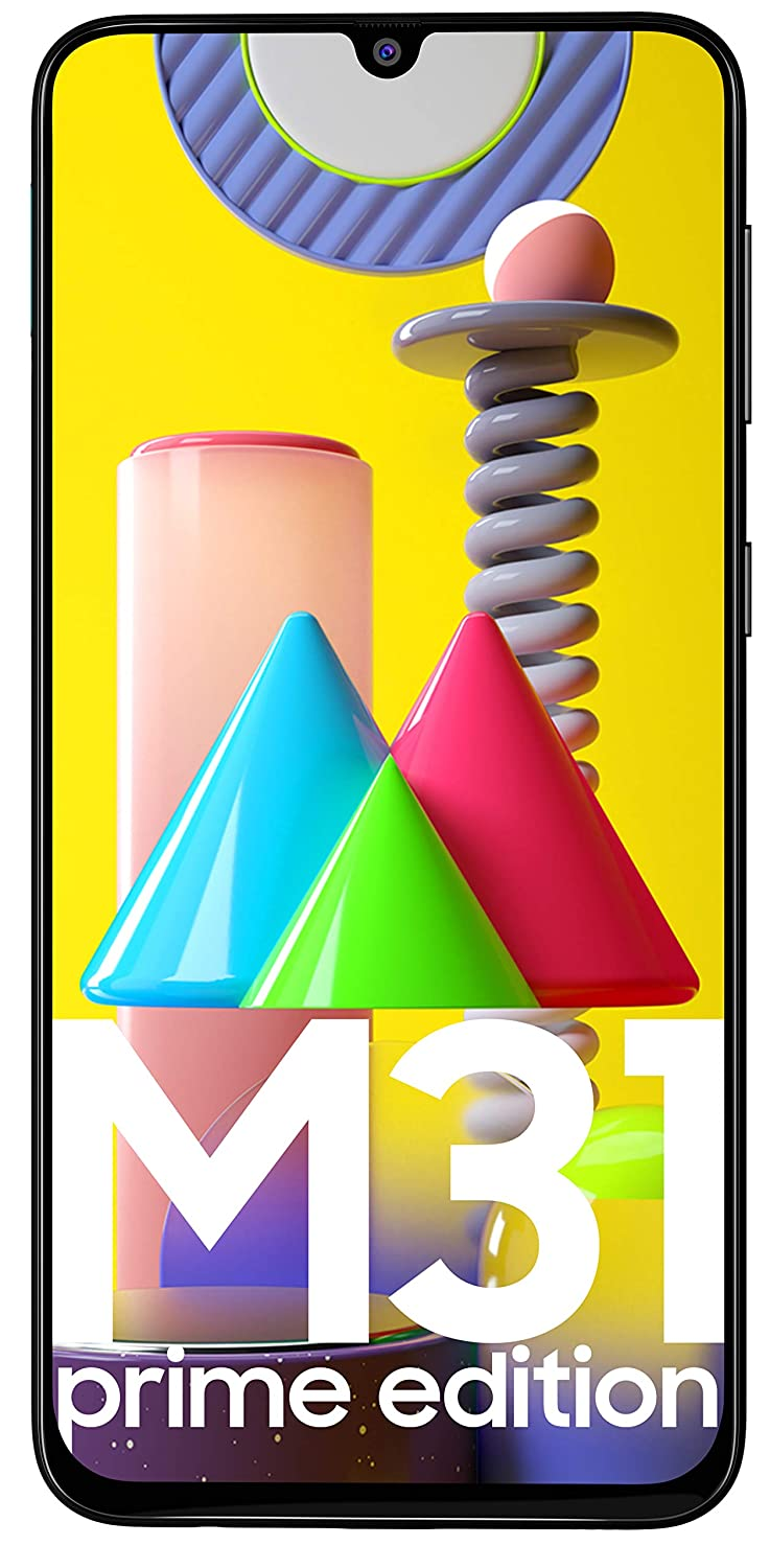 Samsung Galaxy M31 Prime Edition (Space Black, 6GB RAM, 128GB Storage)