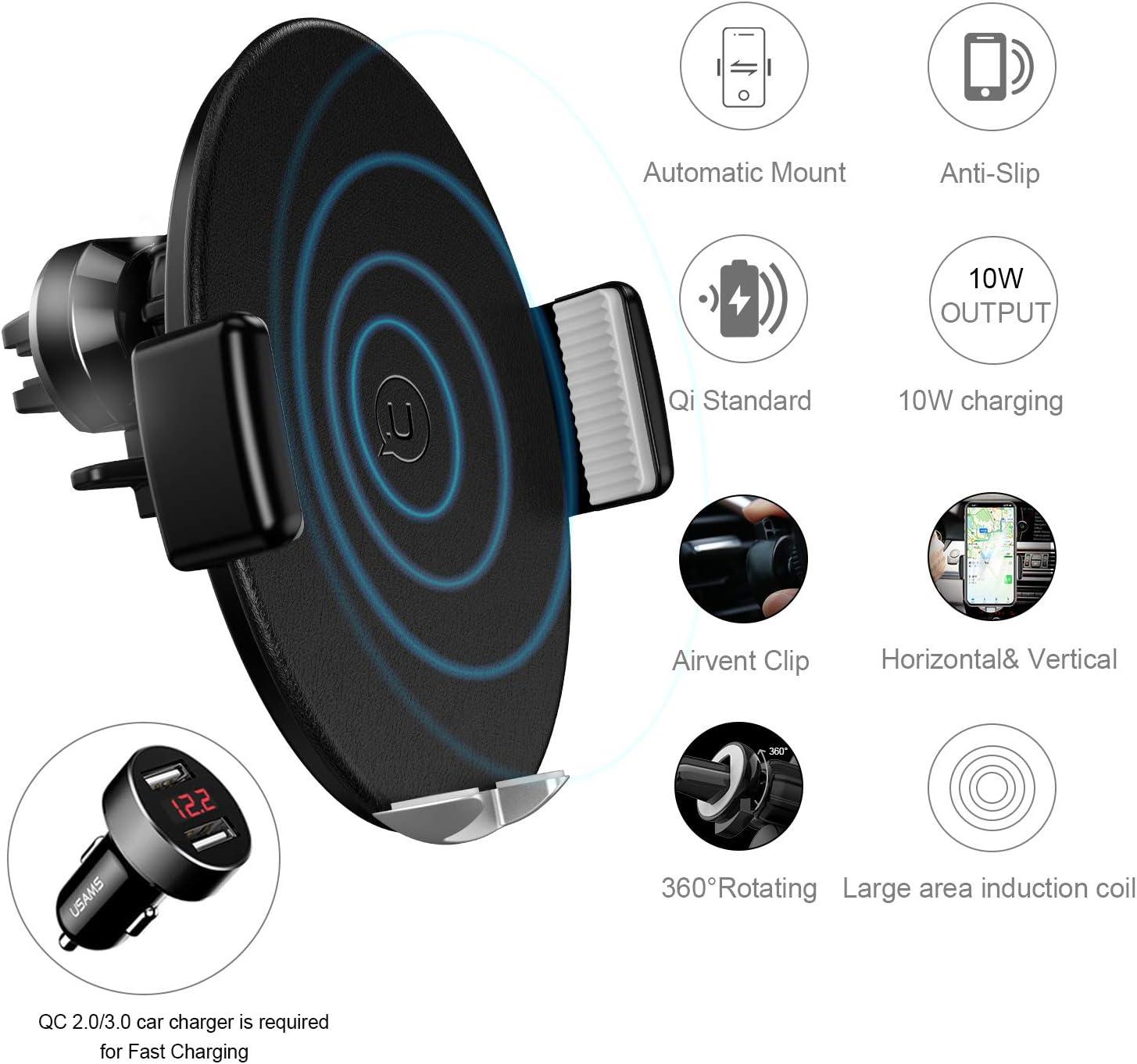 Usams Qi Handy Halterung Fürs Auto Automatisch Touch Elektronik