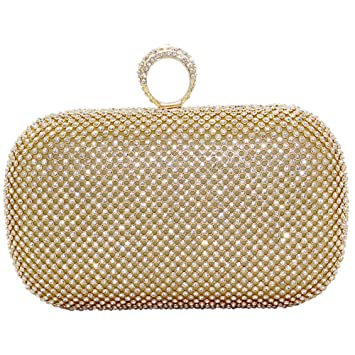 97ef24e6984c Wiwsi Lady Vintage Glitter Ring Clutch Purse Handbag New Designe Women  Chain Bag(Gold)  Amazon.co.uk  Luggage